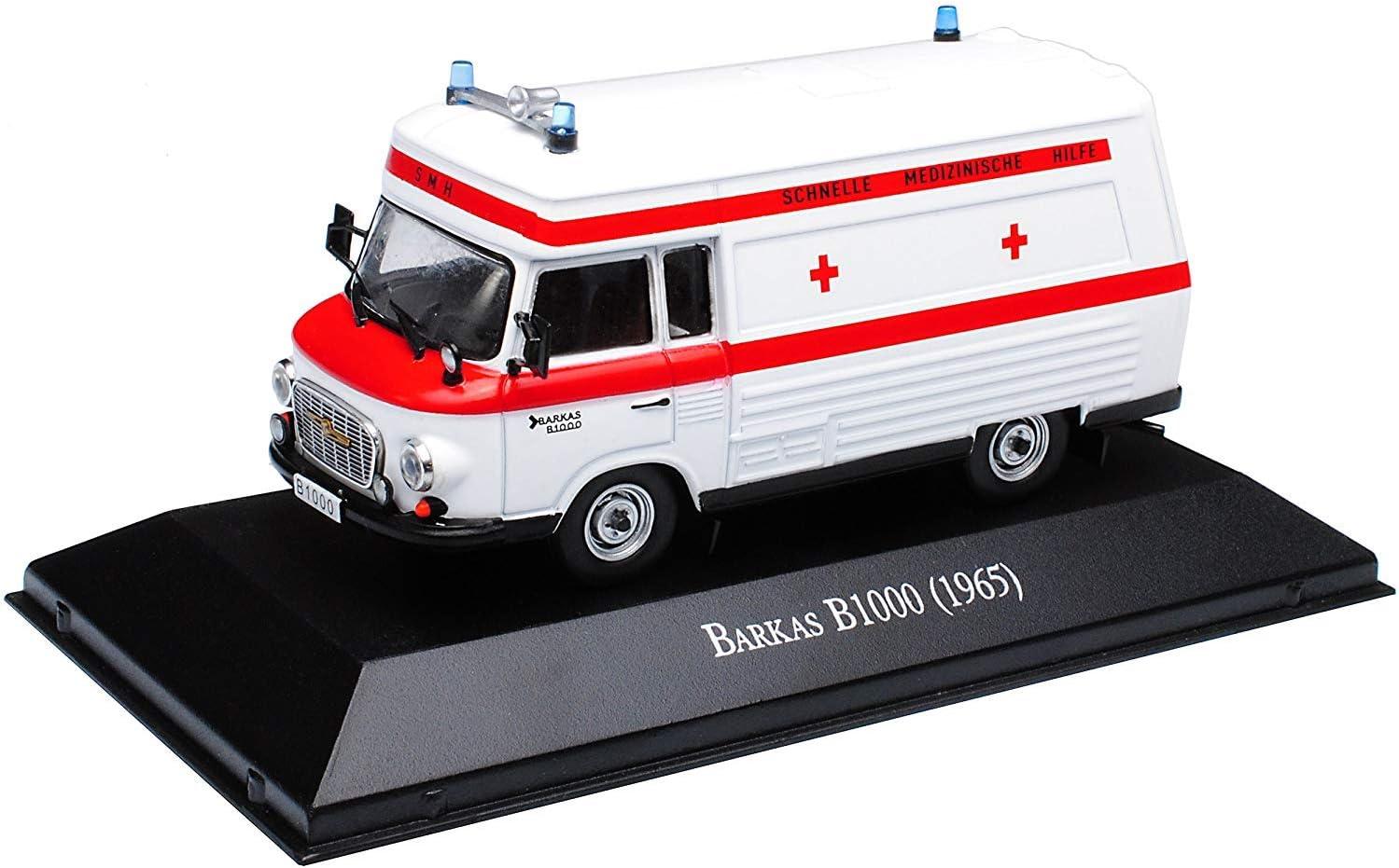 Barkas B1000 SMH Schnelle Medizinische Hilfe DDR Ambulanz Krankenwagen Weiss 1..