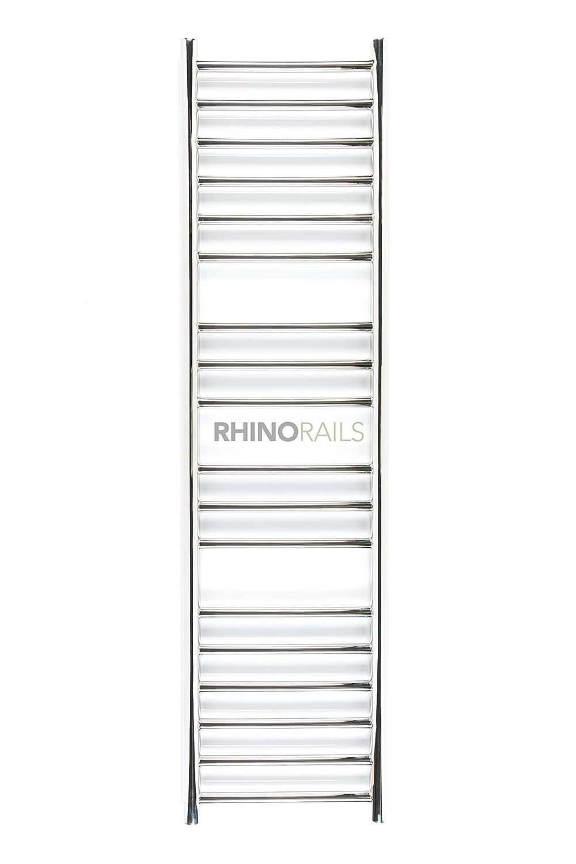 Rhinorails 1300 mm x 360 mm Ergo (plana de) 360 en acero inoxidable toallero calefacción | para radiador de baño acabado en acero inoxidable pulido | 18 Bar ...