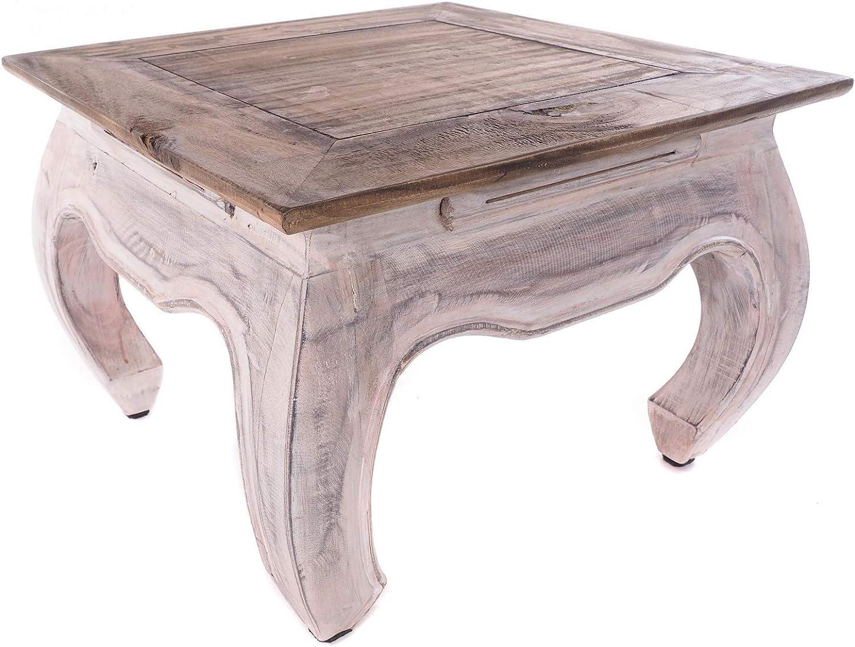 DESIGN DELIGHTS OPIUMTISCH East 50 Table Basse en Bois recycl/é 50 x 50 x 35 cm
