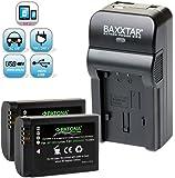 Baxxtar RAZER 600 II Ladegerät 5 in 1 + 2x Patona Premium Qualitätsakku für -- Samsung BP1900 -- passend zu Samsung NX1 (mit USB-Ausgang für gleichzeitiges Laden eines Drittgerätes... Smartphone Tablet usw)