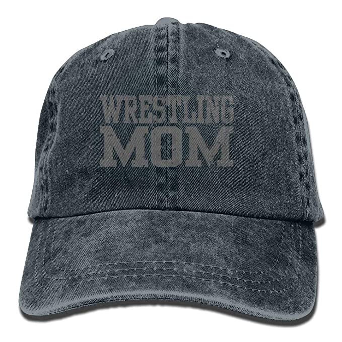 881c45022f145 Image Unavailable. Image not available for. Color  Wrestling Mom Denim Hat  Adjustable Women Plain Baseball Hat