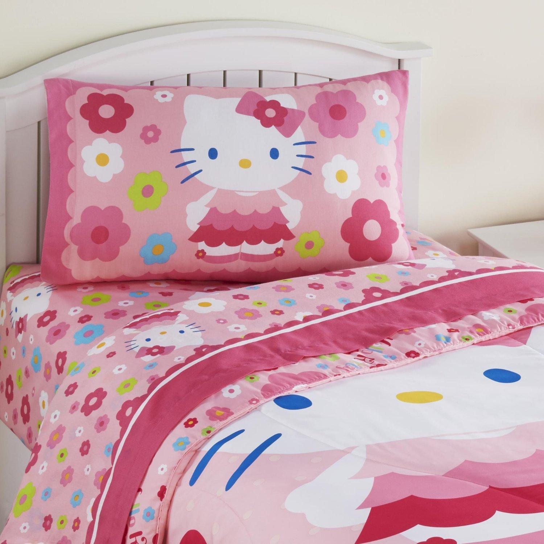 Amazon Hello Kitty Daisy Dance Twin 3 Piece Sheet Set Home
