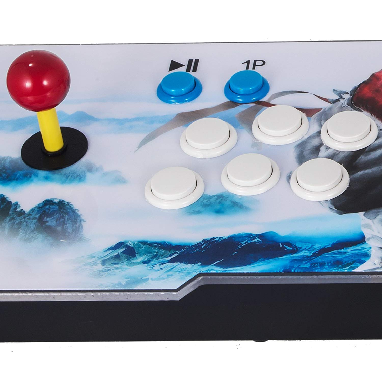 Happybuy 1500 Classic Arcade Game Machine 2 Players Pandoras Box 9s 1280x720 Full HD Video Game Console with Arcade Joystick Support HDMI VGA Output (White&Blue) by Happybuy (Image #7)