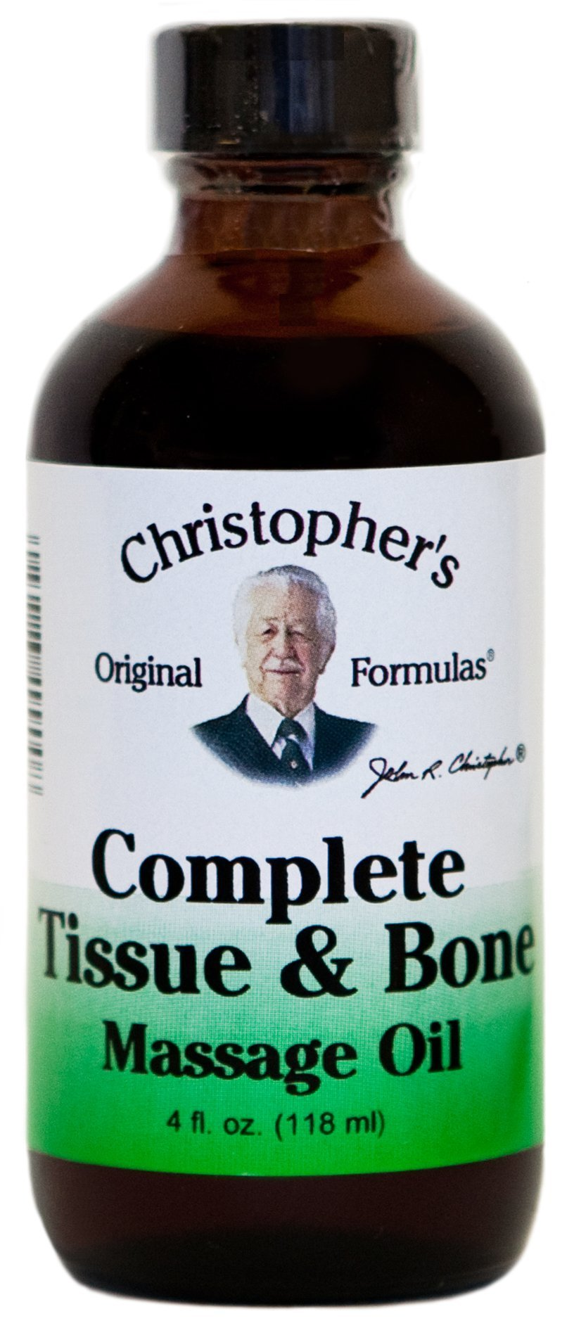 Dr. Christopher's Formulas Complete Tissue and Bone Massage Oil, 4 Ounce