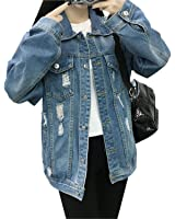 Henraly Women Vintage Long Sleeve Casual Basic Jeans Jackets Female Coat Chaquetas Mujer WICCON