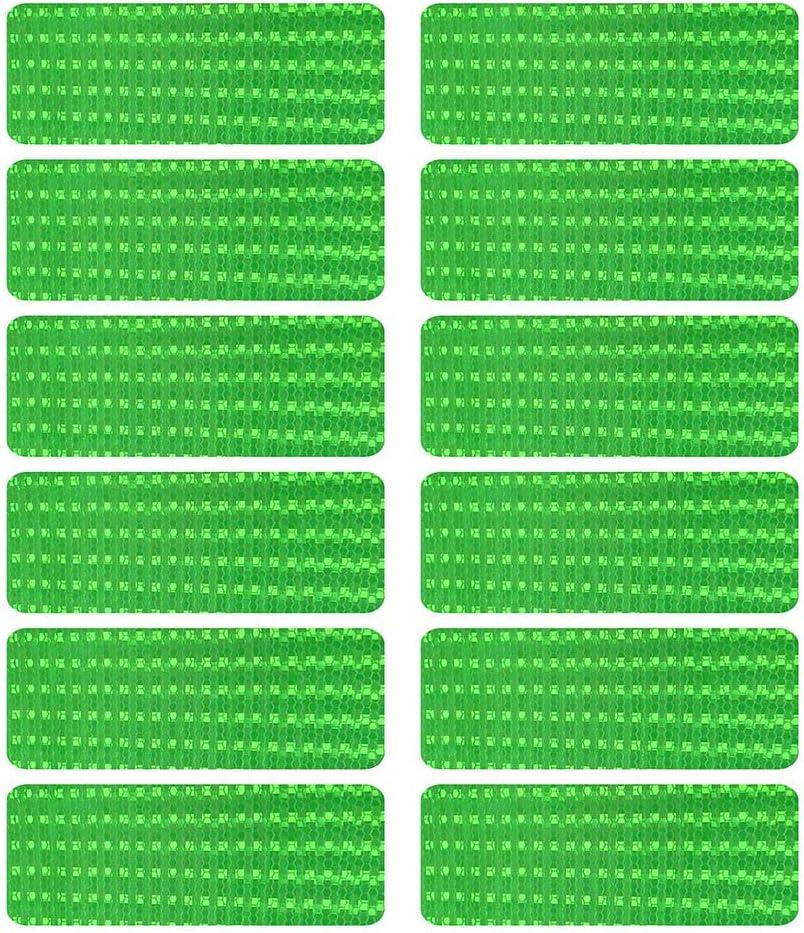 12 St/ück Helmen mit Stickern Fahrr/ädern HiPerformance Reflexfolie Set zur Sicherungs-Markierung von Kinderwagen Luccase Reflektoren Aufkleber Sticker selbstklebend und hochreflektierend
