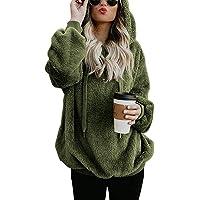 Romanstii Damestrui met capuchon, teddyfleece, pluche, casual, effen, lange mouwen, sweatshirt, hoodies