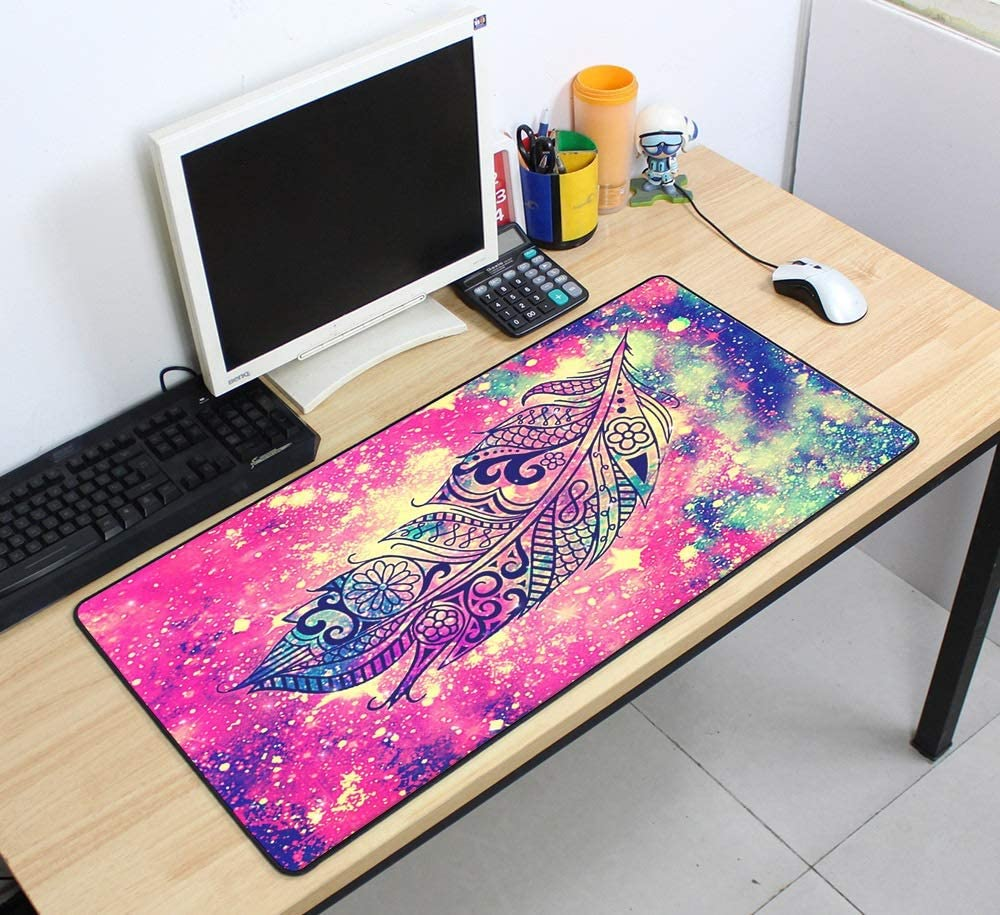 Color : Mousepad 5, Size : Size 700x400x4mm XJBHRB Large Mouse pad 700x400mm Speed Keyboards Mat Rubber Gaming Mousepad Desk Mat for Game Player Desktop PC Computer Laptop