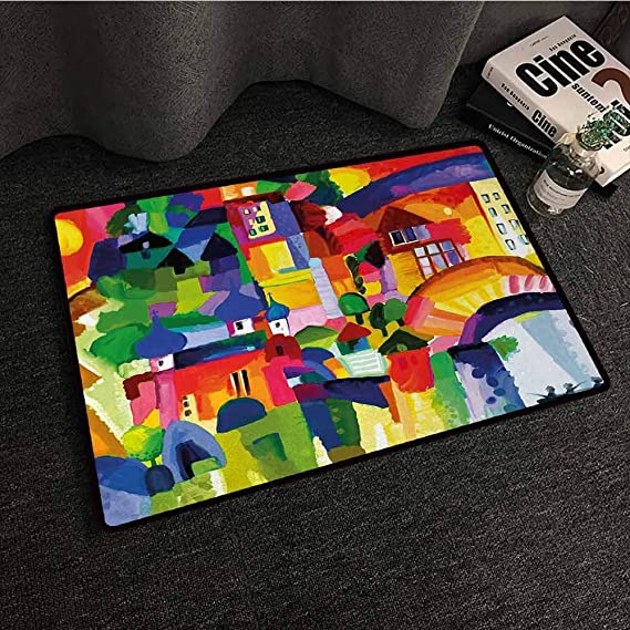 Amazon.com : SONGDAYONE Printed Door mat Art Traditional ...