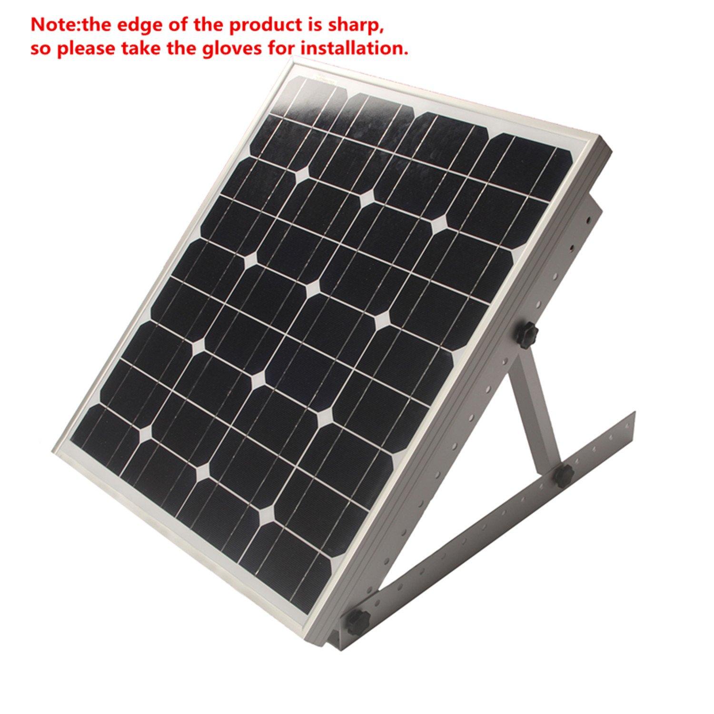 Adjustable Solar Panel Mount Mounting Rack Bracket Set Rack Folding Tilt Legs, Boat, RV, Roof Off Grid (28-inch Length) by Link Solar (Image #3)