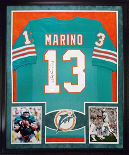 Image Unavailable. Image not available for. Color  Dan Marino Miami  Dolphins Autograph Signed Custom Framed Jersey Suede Matt Mounted Memories  Certified 6ab86a047