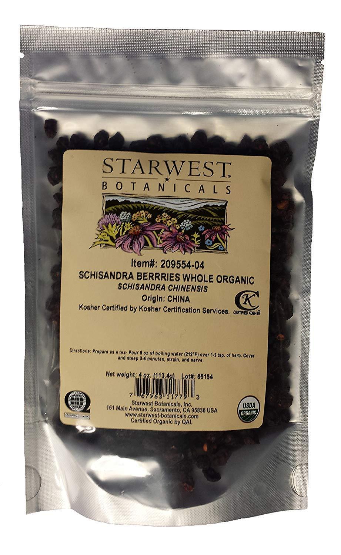 Organic Schisandra Berry Whole – 4 oz
