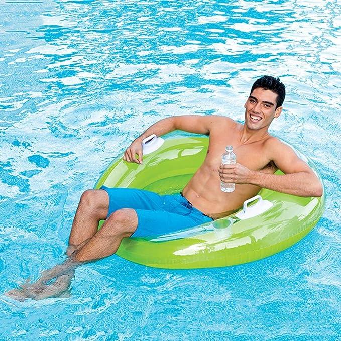 FBEST Flotador de Verde Real Hinchable Grande. Divertida colchoneta Hinchable de Playa y Piscina para niños y Adultos: Amazon.es: Deportes y aire libre