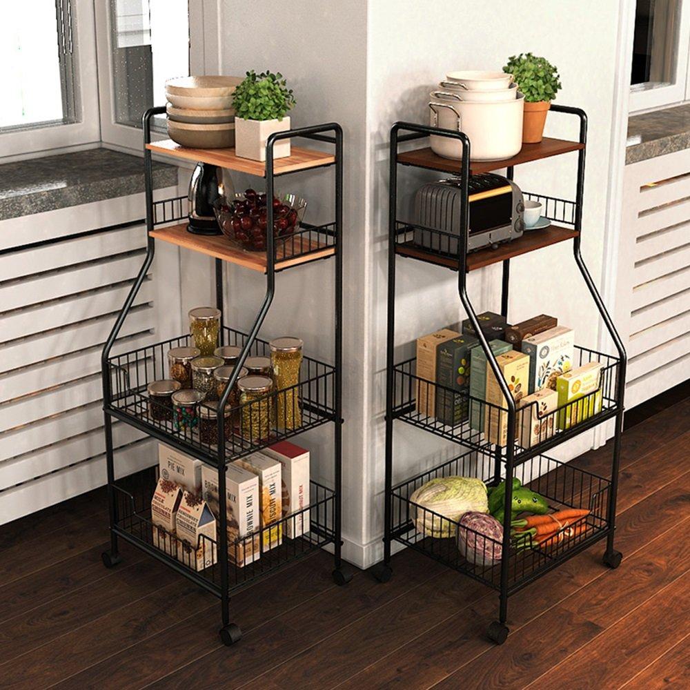 Kitchen shelf HUO Estante De Cocina Estante De Almacenamiento Multipropósito De Cocina Multifunction (Color : Nogal) by Kitchen shelf (Image #2)