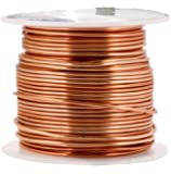 Mandala Crafts 12 14 16 18 20 22 Gauge Anodized Jewelry Making Beading Floral Colored Aluminum Craft Wire (16 Gauge, Copper)