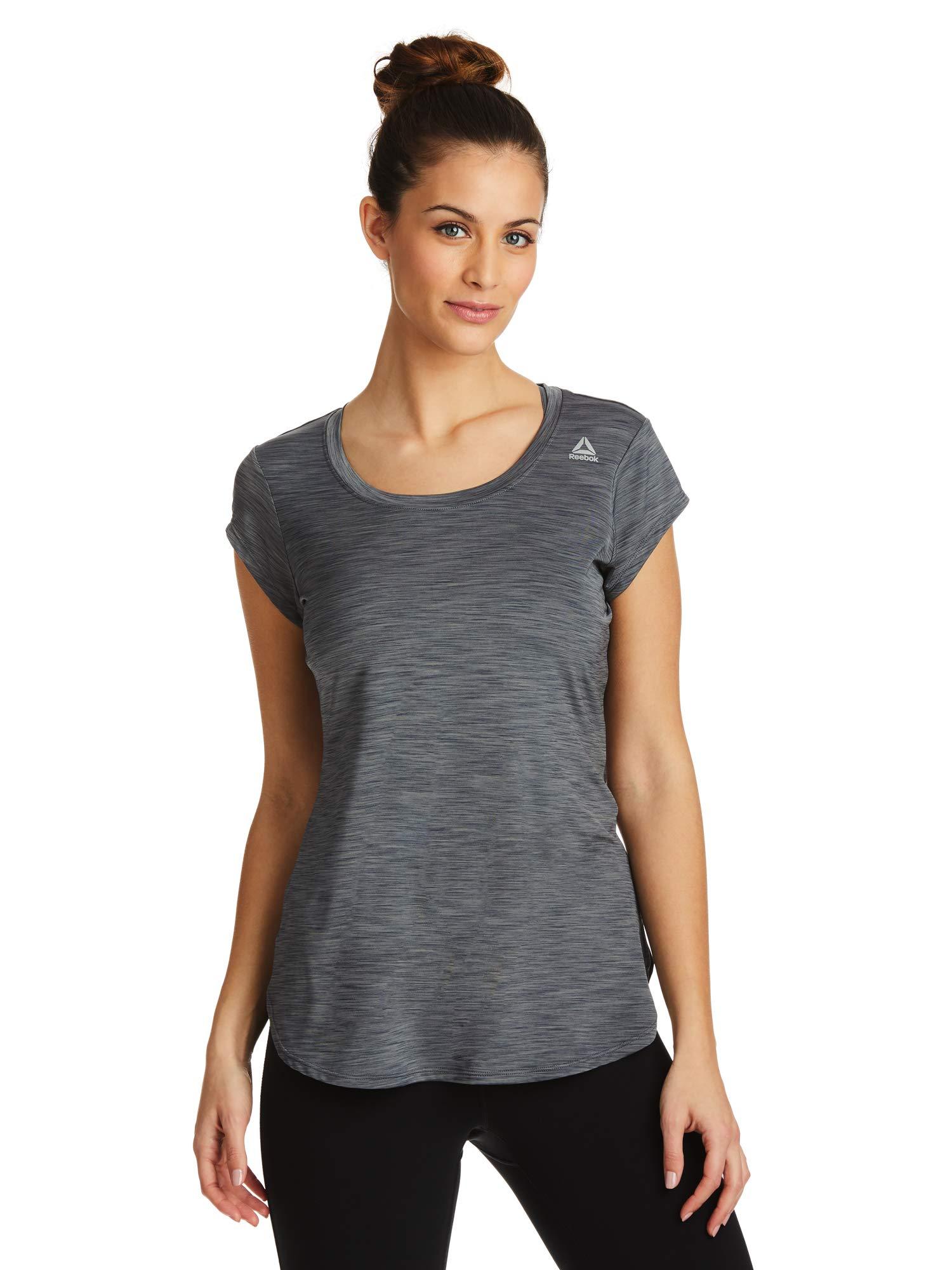 Reebok Women's Legend Performance Top Short Sleeve T-Shirt - Medium Grey Day, Large by Reebok