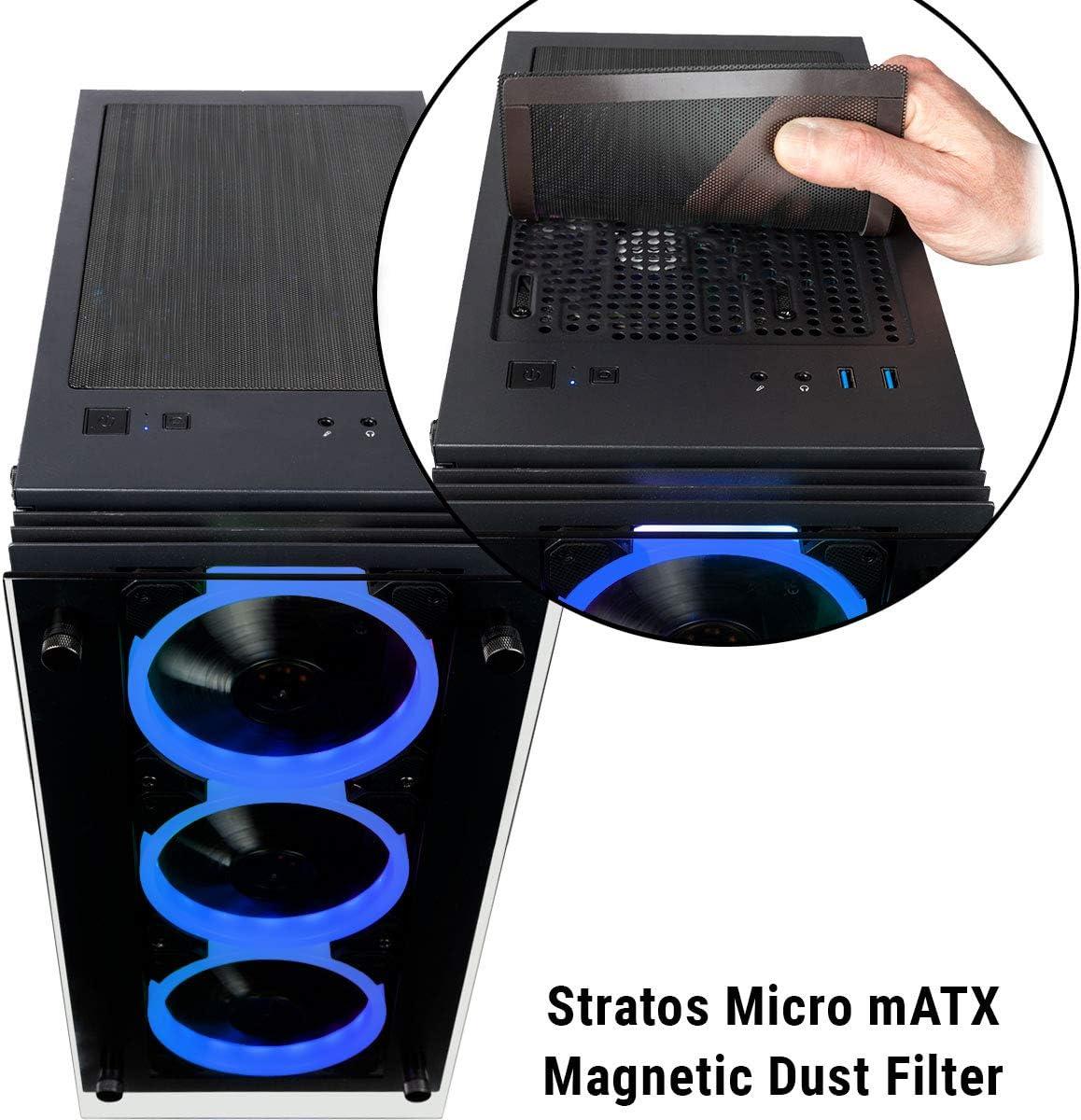 CUK Stratos Micro Business Desktop Intel i7-9700K, 32GB DDR4 RAM, 512GB NVMe SSD 2TB HDD, NVIDIA GeForce GTX 1060 3GB, 500W Bronze PSU, AC WiFi, Windows 10 Pro Professional Desktop PC Computer