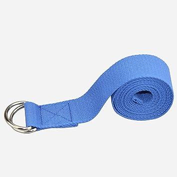 3m cinturón yoga fitness Stretch cinturón gimnasia pilates Belt metal-cierre