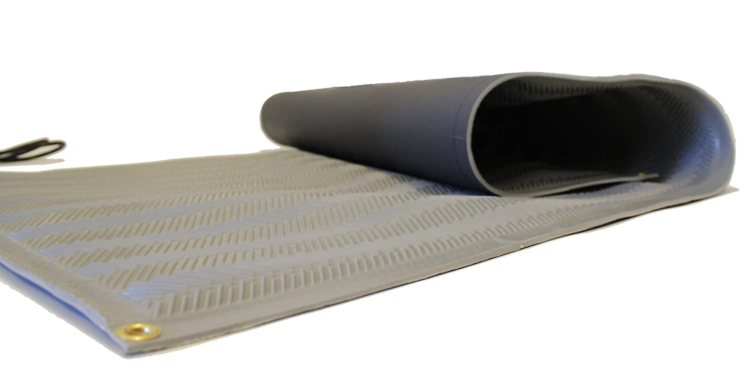 RHS Heated Mat, Snow Melting Mat, Non-Slip Herringbone Design,, Color Gray, Outdoor Mat, Melts up to 2 inches of Snow Per Hour (30 in x 3'ft) Roof Heating Systems