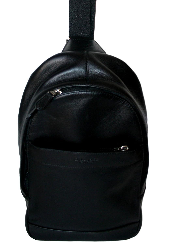 6e479315961d Top2  Coach Mens Leather Shoulder Crossbody Bag Charles Pack Backpack Black  4388