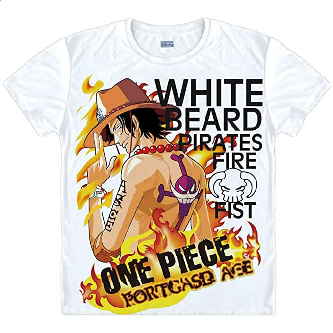 bc2934a87ca Life Star Anime One Piece Ice T-Shirt Summer Printed Short Sleeves T-Shirt  Tee