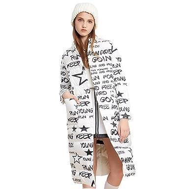 c6a2554c05c7 BOSIDENG Women s Early Winter Down Jacket Reversible Wearing Printing X-Long  Stand Collar OL Smart