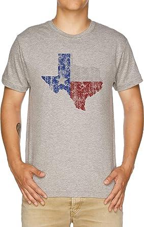 Texas Vendimia Camiseta Hombre Gris: Amazon.es: Ropa y accesorios