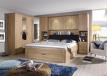 lifestyle4living Schlafzimmer Komplett Set in Eiche-Dekor, 4 ...