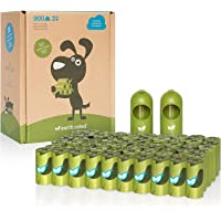 Earth Rated Dog Poop Bags, 900 Extra Thick and Strong Poop Bags for Dogs, Guaranteed Leak-proof, Unscented, 60 Rolls, 15 Doggy Bags Per Roll, Each Dog Poop Bag Measures 9 x 13 Inches, Includes 2 Leash Dispensers