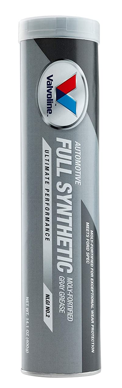 Valvoline Moly-Fortified Gray Full Synthetic Grease 14.1 OZ Cartridge