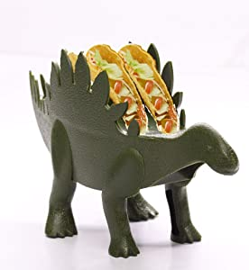 Kid at Heart Crafts Dinosaur Food Holder - Stegosaurus - Dino Taco Holder- Fun Kitchen Gadgets - - Taco Tuesdays Holder Party Accessory – Green