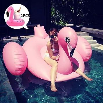 Bootskiste Flamenco, anillo de natación hinchable Flamenco gigante flotador gigante Flamenco hinchable, cama de aire gigante cocodrilos hinchable piscina ...