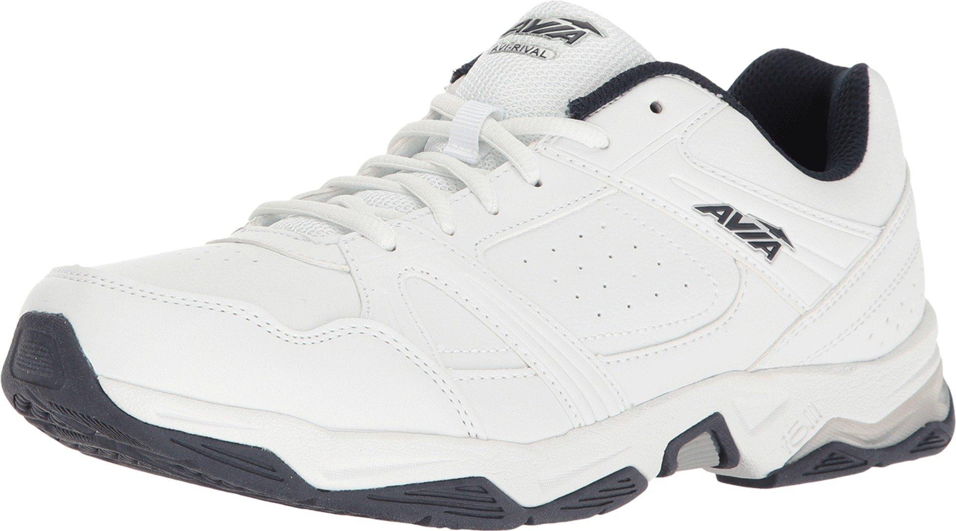 Avia Men's Avi-Rival White/True Navy/Chrome Silver Athletic Shoe
