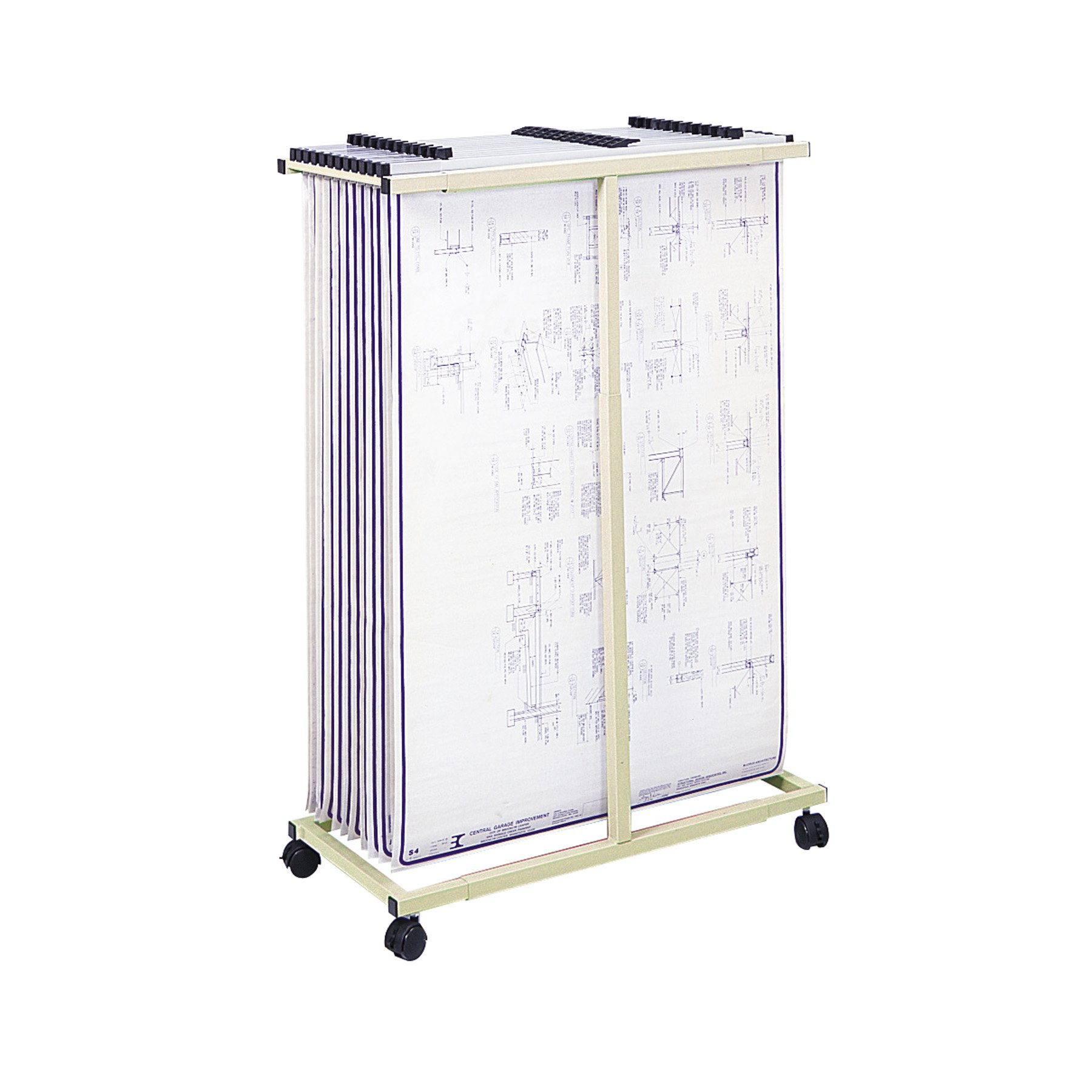 Safco Products 5059 Mobile Vertical File, Tropic Sand