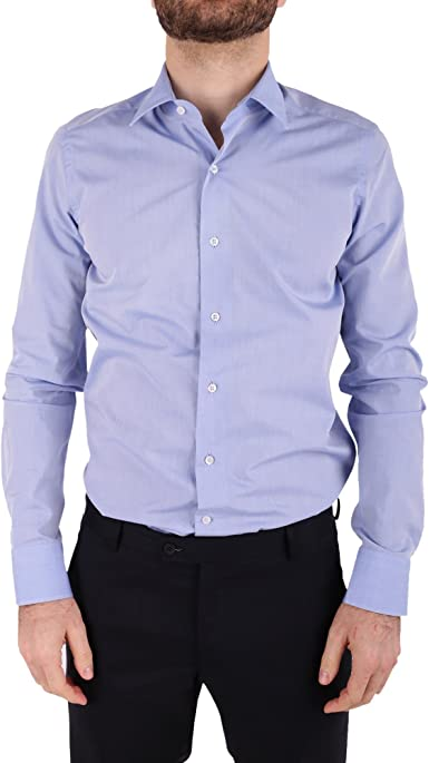 Ungaro - Camisa Casual - para Hombre Azul Celeste 43: Amazon.es: Ropa y accesorios