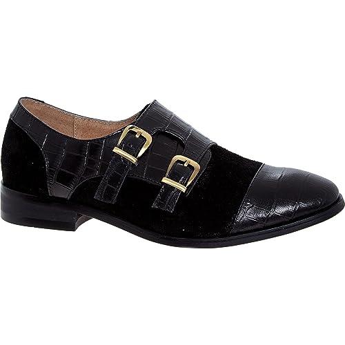 9ed292f88b8b1 James para Mujer Jasper Negro Zapatos de Ante Monje Traje de Neopreno para  Mujer
