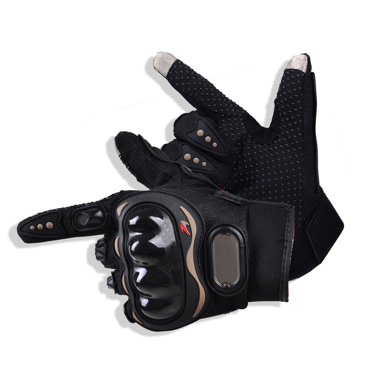 CHCYCLE motorcycle gloves touch screen summer motorbike powersports protective racing gloves (XX-Large)
