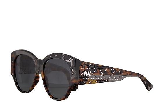 17cef186643 Christian Dior LadyDiorStuds2 Sunglasses Grey Black Spotted w Grey Lens  55mm ACI1I LadyDiorStuds2 S Ladydiorstuds2 Lady Dior Studs 2 LadyDiorStuds  2  ...