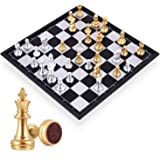 Travel Chess Board Set Games - Magnetic Chess Piece with Portable/Foldable Board- Educational Toys For Kid/Children…