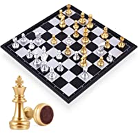 Mumoo Bear Travel Chess Board Set Games - Magnetic Chess Piece with Portable/Foldable Board- Educational Toys For Kid…