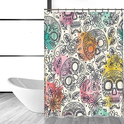 acheter rideau de douche tete de mort online 23