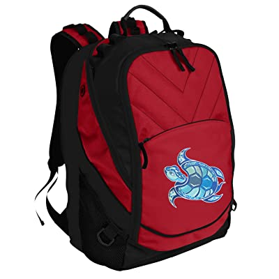 outlet Turtle Backpack Red Sea Turtle Laptop Computer Bags
