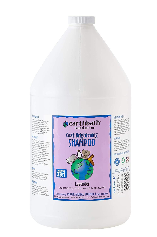 Earthbath Light color Coat Brightener Concentrated Shampoo, 1-Gallon
