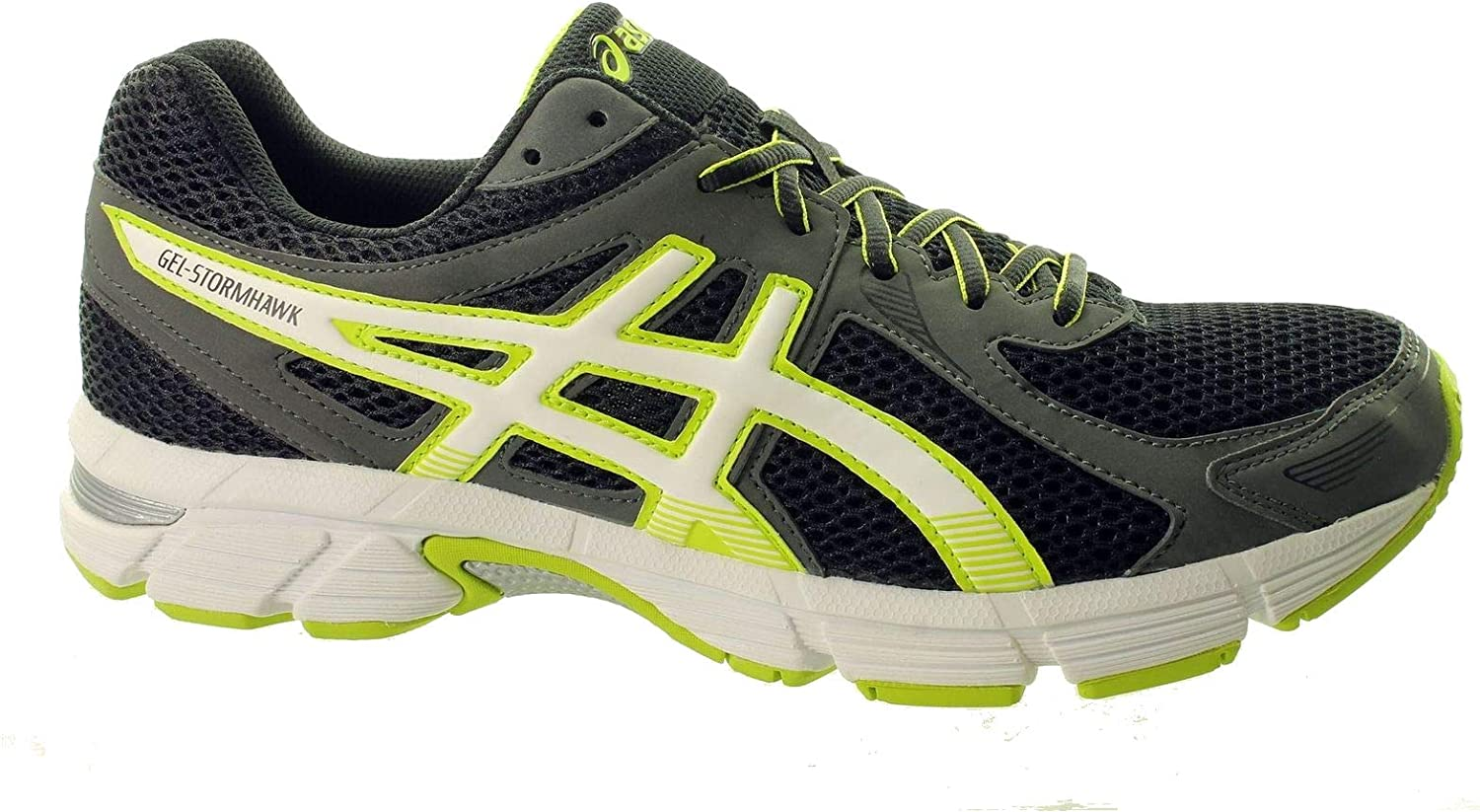 Dedos de los pies análisis sorpresa  ASICS Gel Stormhawk T41VQ-9005 Mens Trainers UK 6 Gel Stormhawk T41VQ-9005  Mens Trainers UK 6 - Black/White/Lime, UK6: Amazon.co.uk: Shoes & Bags