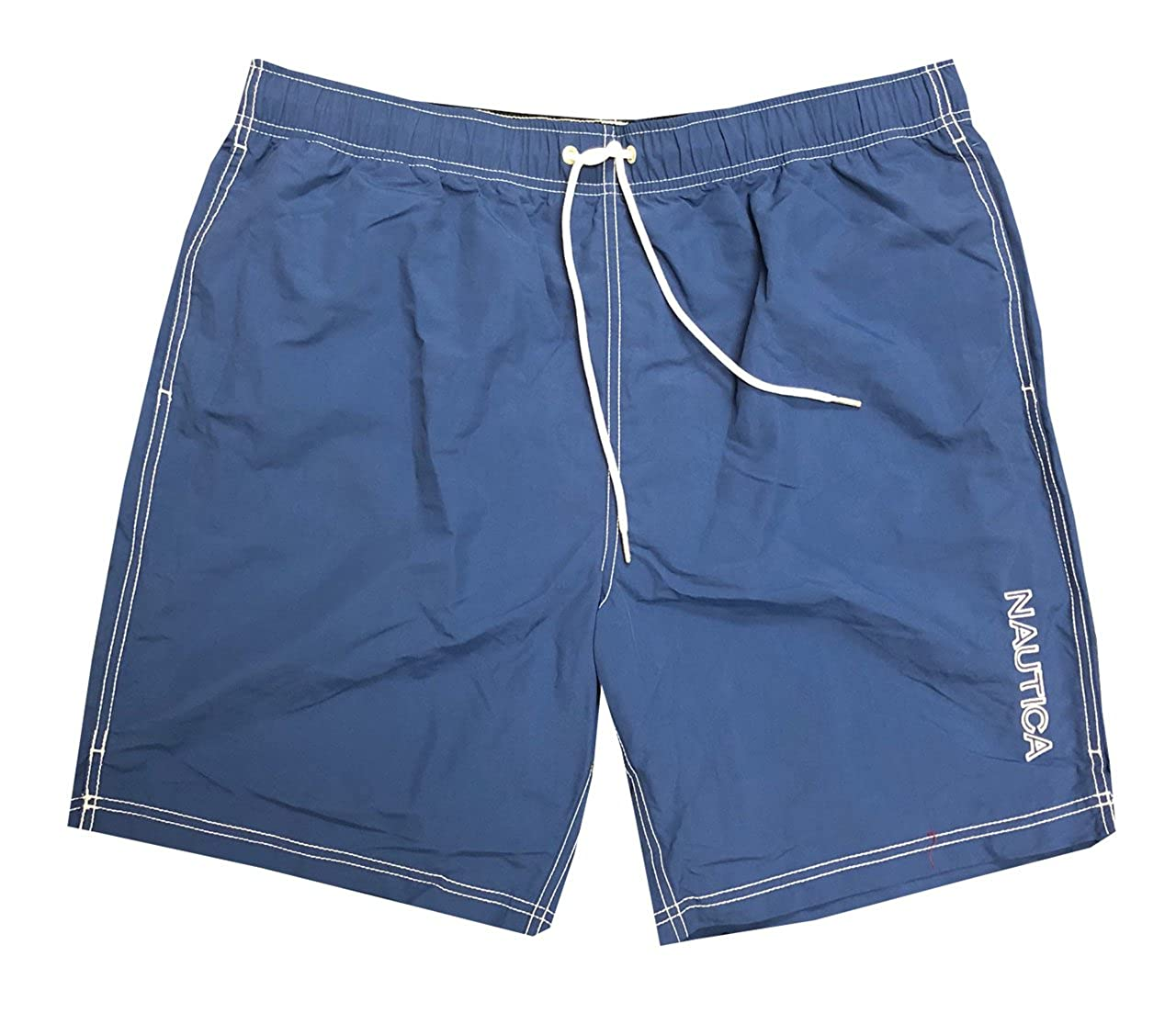 Nautica Mens Quick-Dry Logo Swim Trunk Shorts