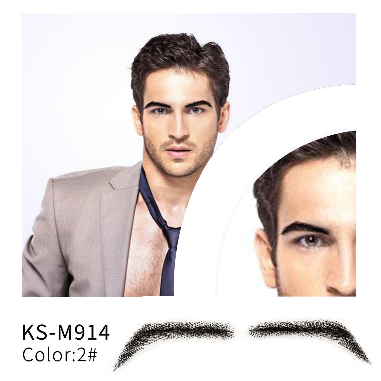 One Pair Men's Fake Eyebrows 100% Handtied Human Hair ...