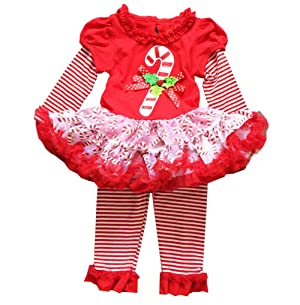 Baby Little Girl Christmas Pant Set Outfits