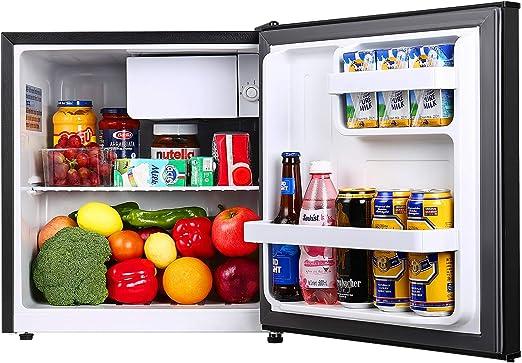 17 Litre Mini Fridge Kitchen Storage Shelf Ice Box Cooler Table Top Small Black