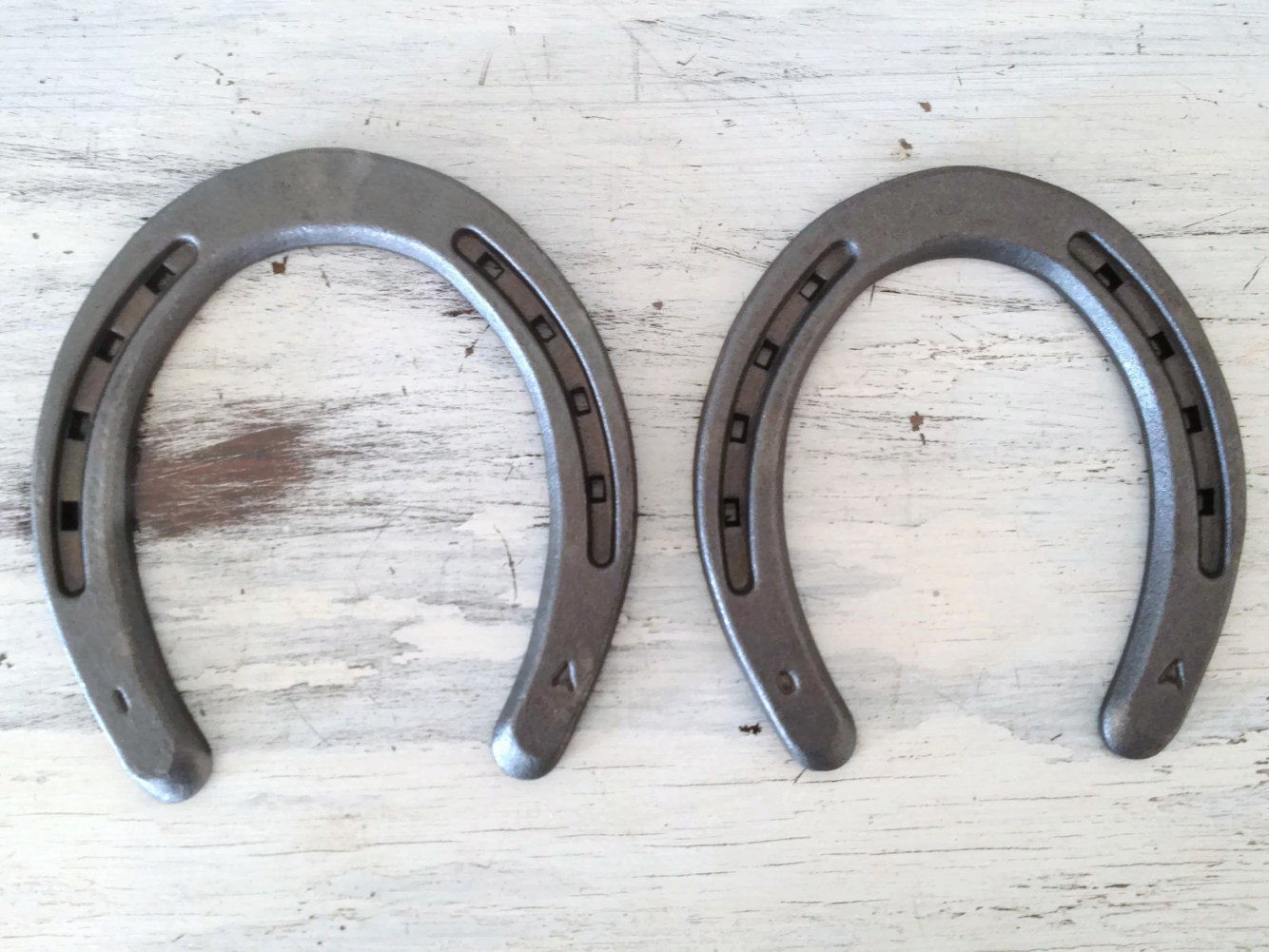 New Steel Horseshoes - Plain Shoe Size 0 - Sand Blasted - The Heritage Forge Size 0 - 40 Shoes by The Heritage Forge (Image #3)