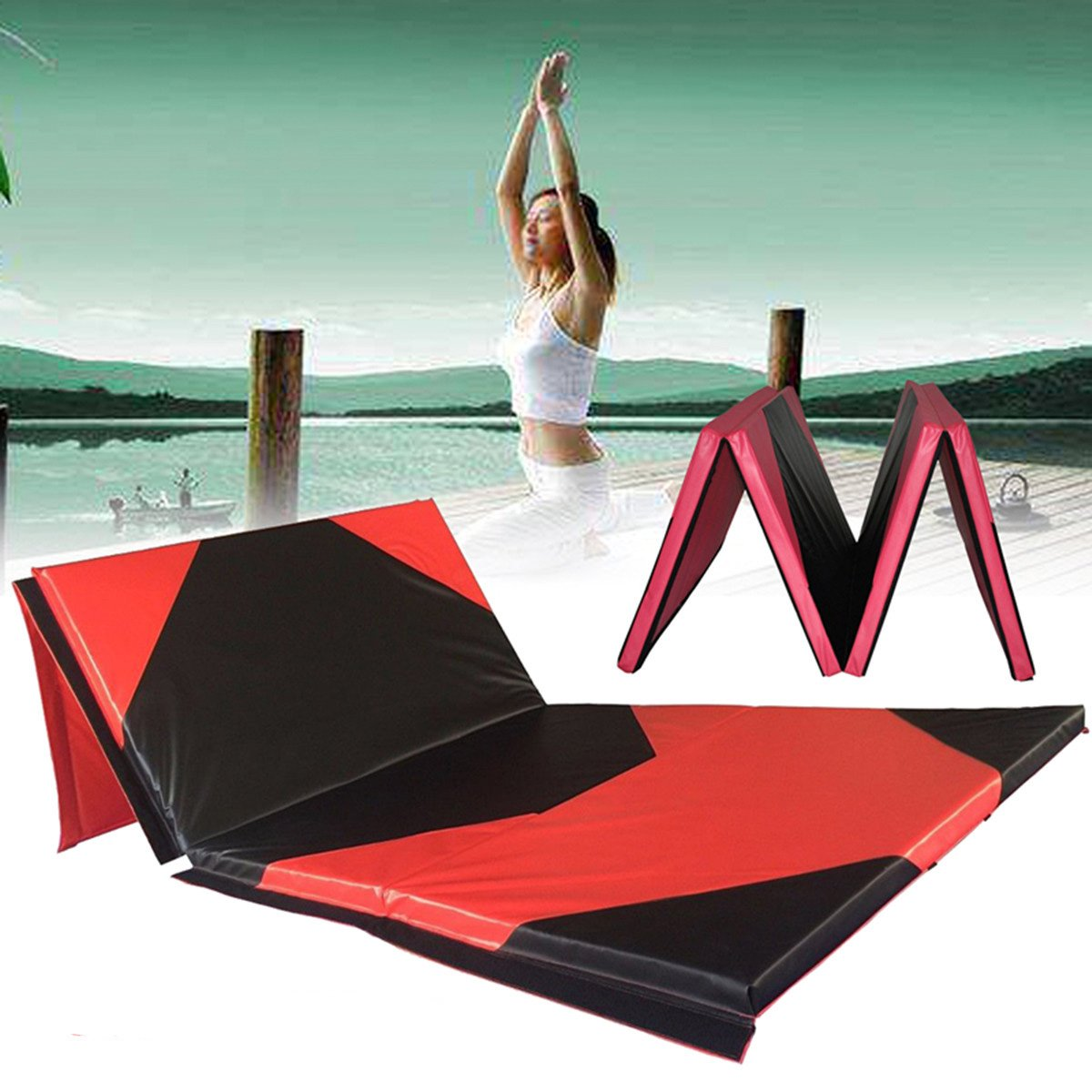 ShopSquare64 118x47x1.97inch Gimnasia Mat Gym Panel Plegable ...